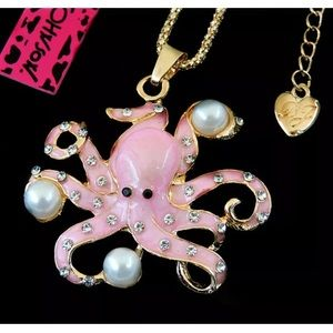 NWT BETSEY JOHNSON OCTOPUS NECKLACE